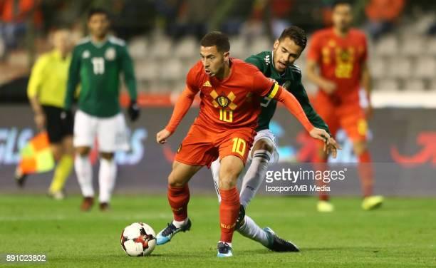 20171110 Brussels Belgium / International Friendly Game Belgium v Mexico / 'nEden HAZARD Carlos SALCEDO'nPicture by Vincent Van Doornick / Isosport
