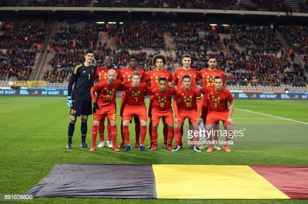 20171110 Brussels Belgium / International Friendly Game Belgium v Mexico / 'nTeam Picture'nThibaut COURTOIS Romelu LUKAKU Dedryck BOYATA Axel WITSEL...