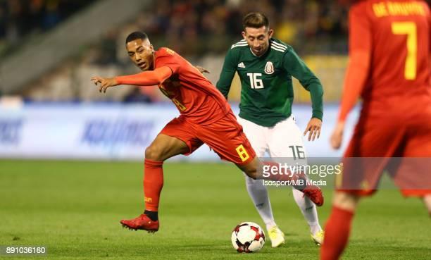 20171110 Brussels Belgium / International Friendly Game Belgium v Mexico / 'nYouri TIELEMANS Hector HERRERA'nPicture by Vincent Van Doornick /...