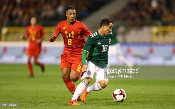 20171110 Brussels Belgium / International Friendly Game Belgium v Mexico / 'nYouri TIELEMANS Andres GUARDADO'nPicture by Vincent Van Doornick /...
