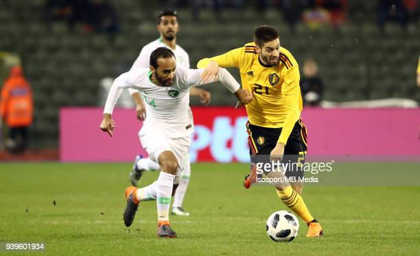 20180327 Brussels Belgium / International Friendly Game Belgium v Saudi Arabia / 'nAbdullah OTAYF Yannick CARRASCO'nPicture by Vincent Van Doornick /...