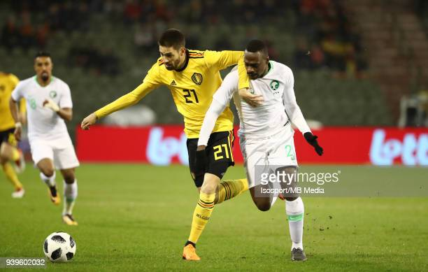 20180327 Brussels Belgium / International Friendly Game Belgium v Saudi Arabia / 'nYannick CARRASCO Motaz HAWSAWI'nPicture by Vincent Van Doornick /...