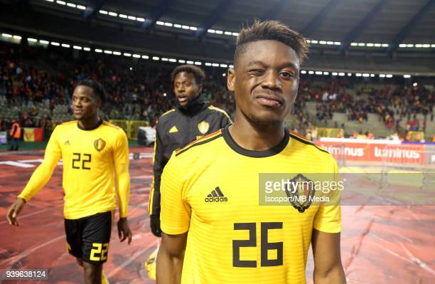 20180327 Brussels Belgium / International Friendly Game Belgium v Saudi Arabia / 'nAnthony LIMBOMBE Celebration'nPicture by Vincent Van Doornick /...