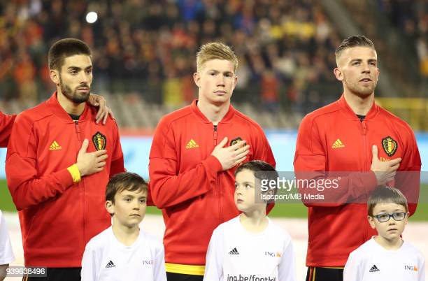 20180327 Brussels Belgium / International Friendly Game Belgium v Saudi Arabia / 'nYannick CARRASCO Kevin DE BRUYNE Toby ALDERWEIRELD'nPicture by...