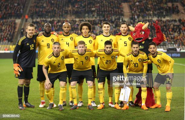 20180327 Brussels Belgium / International Friendly Game Belgium v Saudi Arabia / 'nTeam Picture'nSimon MIGNOLET Romelu LUKAKU Vincent KOMPANY Axel...