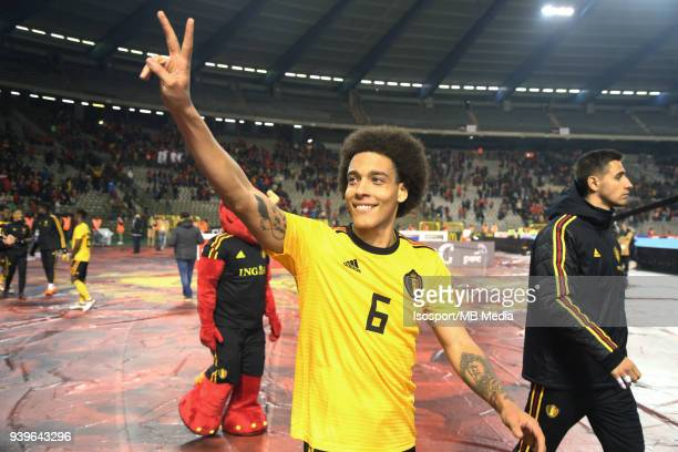 """Brussels, Belgium / International Friendly Game : Belgium v Saudi Arabia / """"nAxel WITSEL - Celebration""""nPicture by Vincent Van Doornick / Isosport"""