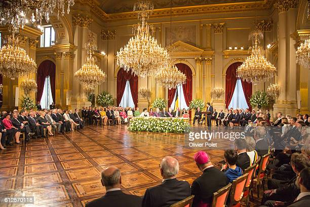Brussels, Belgium, July 21, 2013 - Abdication of King Albert II at the Royal Palace of Brussels.