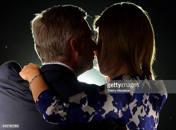 Brussels, Belgium, July 21, 2013. -- Belgium King Philippe, and Belgium Queen Mathilde during the July 21 ceremony.