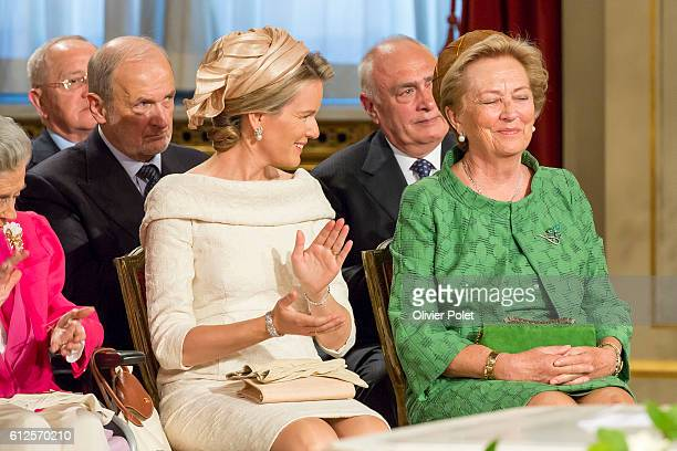 Brussels, Belgium, July 21, 2013 - Princes Mathilde and Queen Paola of Belgium, during the Abdication of King Albert II at the Royal Palace of...