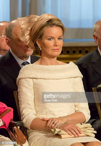 Brussels, Belgium, July 21, 2013 - Princes Mathilde of Belgium, during the Abdication of King Albert II at the Royal Palace of Brussels.