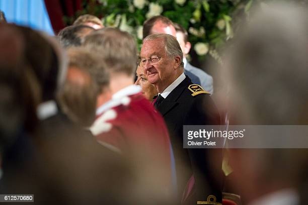 Brussels, Belgium, July 21, 2013 - The Abdication of King Albert II at the Royal Palace of Brussels.