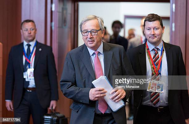 Brussels Belgium June 11 2015 President of the European Commission JeanClaude Juncker arrives for the second day of an EULatin America Summit Back...