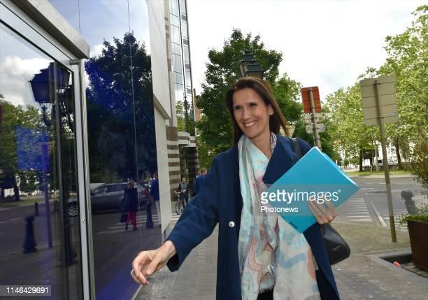 Brussels Belgium Bureau de parti MR Partijbureau MR * Sophie Wilmès © Philip Reynaers / Photonews via Getty Images