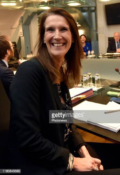 Brussels Belgium November 08 2019 Conseil des Ministres du Gouvernement fédéral Ministerraad federaal regering * Sophie Wilmès MR © Philip Reynaers /...