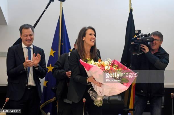 Brussels Belgium November 08 2019 Conseil des Ministres du Gouvernement fédéral Ministerraad federaal regering * Sophie Wilmès MR * Alexander De Croo...