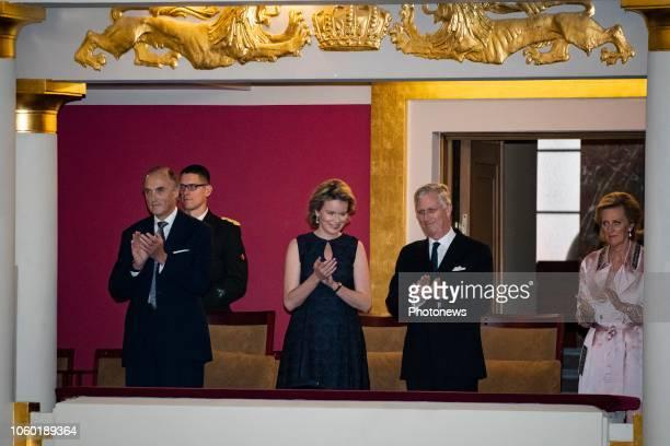 Brussels Belgium Concert organisé dans le cadre des commémorations du 100e anniversaire de la Première Guerre Mondiale en présence du Roi de la Reine...