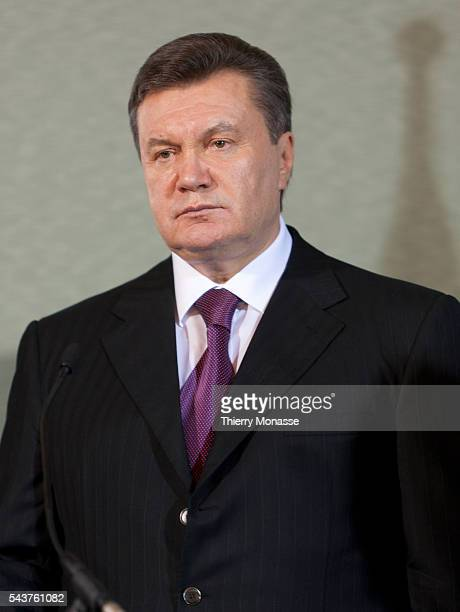 Brussels Belgium November 22 2010 The Ukrainian President Viktor YANUKOVYCH the President of the European Council Herman and the President of the...