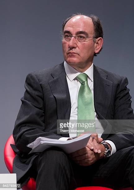 Brussels Belgium October 12 2013 CEOs of ten major Energy companies presser Chairman and Chief Executive Officer of Iberdrola Jose Ignacio SANCHEZ...