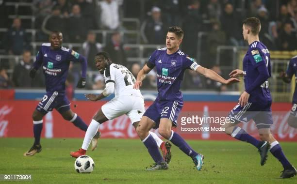20171222 Brussels Belgium / Rsc Anderlecht v As Eupen / 'nEric OCANSEY Leander DENDONCKER'nFootball Jupiler Pro League 2017 2018 Matchday 20 /...