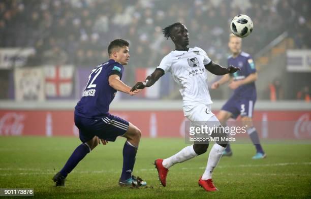 20171222 Brussels Belgium / Rsc Anderlecht v As Eupen / 'nLeander DENDONCKER Mbaye LEYE'nFootball Jupiler Pro League 2017 2018 Matchday 20 /...