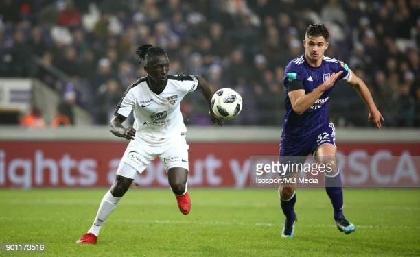 20171222 Brussels Belgium / Rsc Anderlecht v As Eupen / 'nMbaye LEYE Leander DENDONCKER'nFootball Jupiler Pro League 2017 2018 Matchday 20 /...
