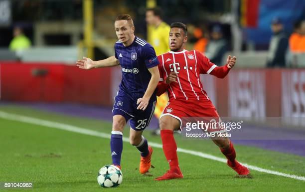 20171122 Brussels Belgium / Rsc Anderlecht v Bayern Munchen / 'nAdrien TREBEL Corentin TOLISSO'nFootball Uefa Champions League 2017 2018 Group stage...
