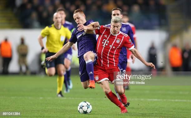 20171122 Brussels Belgium / Rsc Anderlecht v Bayern Munchen / 'nAdrien TREBEL Robert LEWANDOWSKI'nFootball Uefa Champions League 2017 2018 Group...
