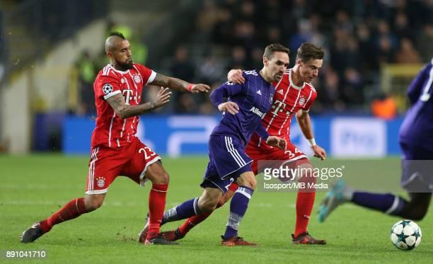 20171122 Brussels Belgium / Rsc Anderlecht v Bayern Munchen / 'nArturo VIDAL Sven KUMS Marco FRIEDL'nFootball Uefa Champions League 2017 2018 Group...
