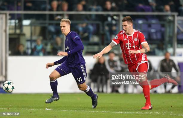 20171122 Brussels Belgium / Rsc Anderlecht v Bayern Munchen / 'nLukasz TEODORCZYK Niklas SULE'nFootball Uefa Champions League 2017 2018 Group stage...