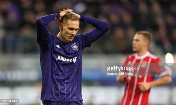 20171122 Brussels Belgium / Rsc Anderlecht v Bayern Munchen / 'nLukasz TEODORCZYK Deception'nFootball Uefa Champions League 2017 2018 Group stage...