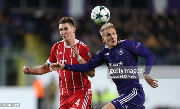 20171122 Brussels Belgium / Rsc Anderlecht v Bayern Munchen / 'nNiklas SULE Lukasz TEODORCZYK'nFootball Uefa Champions League 2017 2018 Group stage...