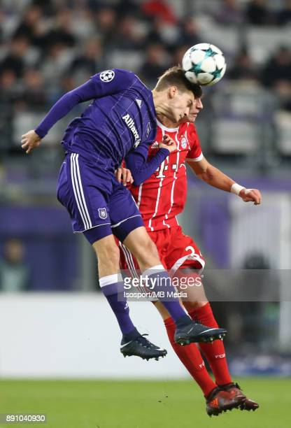 20171122 Brussels Belgium / Rsc Anderlecht v Bayern Munchen / 'nPieter GERKENS Marco FRIEDL'nFootball Uefa Champions League 2017 2018 Group stage...