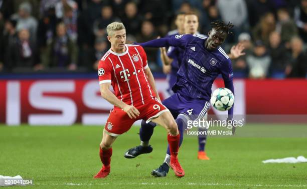 20171122 Brussels Belgium / Rsc Anderlecht v Bayern Munchen / 'nRobert LEWANDOWSKI Kara MBODJI'nFootball Uefa Champions League 2017 2018 Group stage...