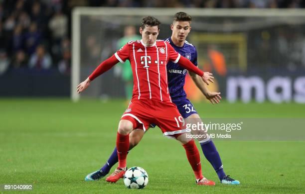 20171122 Brussels Belgium / Rsc Anderlecht v Bayern Munchen / 'nSebastian RUDY Leander DENDONCKER'nFootball Uefa Champions League 2017 2018 Group...