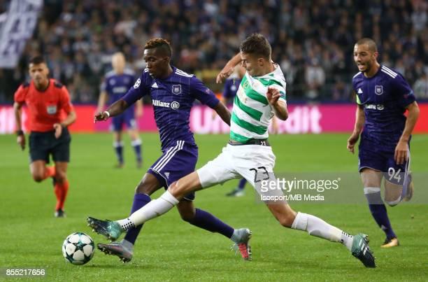 20170927 Brussels Belgium / Rsc Anderlecht v Celtic Fc / 'nHenry ONYEKURU Mikael LUSTIG'nFootball Uefa Champions League 2017 2018 Group stage...