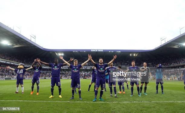 20180415 Brussels Belgium / Rsc Anderlecht v Club Brugge / 'nCelebration'nFootball Jupiler Pro League 2017 2018 PlayOff 1 Matchday 3 / 'nPicture by...