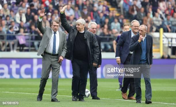 20180415 Brussels Belgium / Rsc Anderlecht v Club Brugge / 'nGilles VAN BINST Jean THISSEN Johnny DUSBABA Arie HAAN Robbie RENSENBRINK'nFootball...