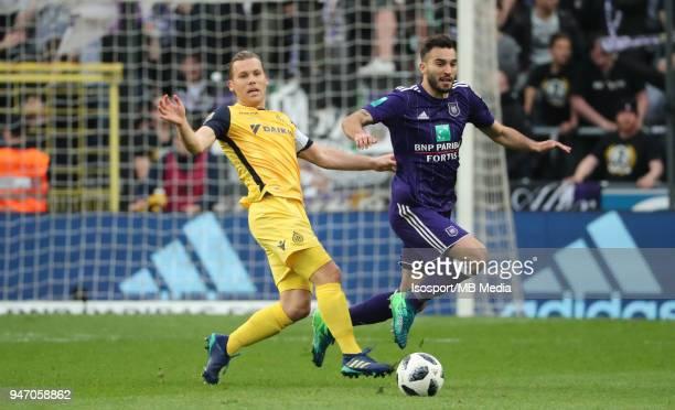 20180415 Brussels Belgium / Rsc Anderlecht v Club Brugge / 'nRuud VORMER Ivan OBRADOVIC'nFootball Jupiler Pro League 2017 2018 PlayOff 1 Matchday 3 /...