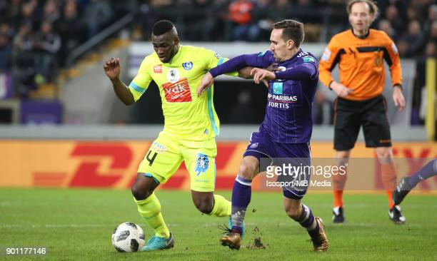 20171226 Brussels Belgium / Rsc Anderlecht v Kaa Gent / 'nAnderson ESITI Sven KUMS'nFootball Jupiler Pro League 2017 2018 Matchday 21 / 'nPicture by...