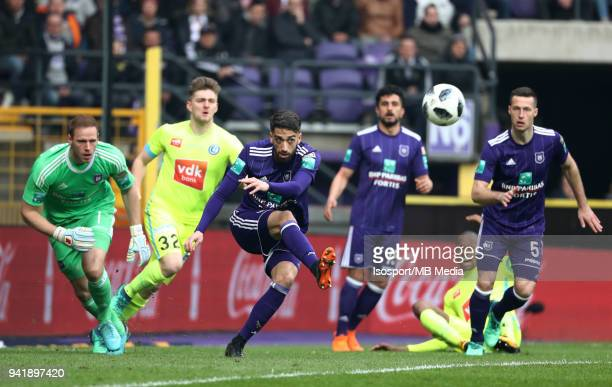 20180401 Brussels Belgium / Rsc Anderlecht v Kaa Gent / 'nJosue SA'nFootball Jupiler Pro League 2017 2018 PlayOff 1 Matchday 1 / 'nPicture by Vincent...