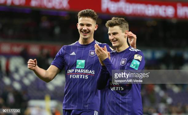 20171226 Brussels Belgium / Rsc Anderlecht v Kaa Gent / 'nLeander DENDONCKER Pieter GERKENS Celebration'nFootball Jupiler Pro League 2017 2018...