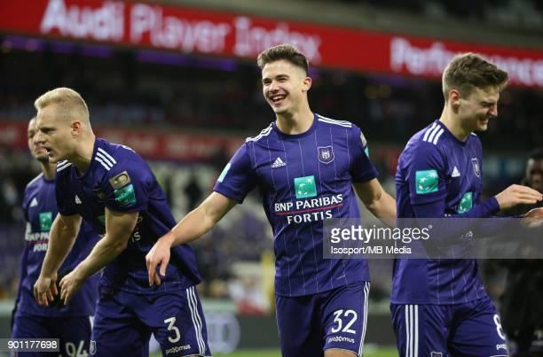 20171226 Brussels Belgium / Rsc Anderlecht v Kaa Gent / 'nLeander DENDONCKER Celebration'nFootball Jupiler Pro League 2017 2018 Matchday 21 /...