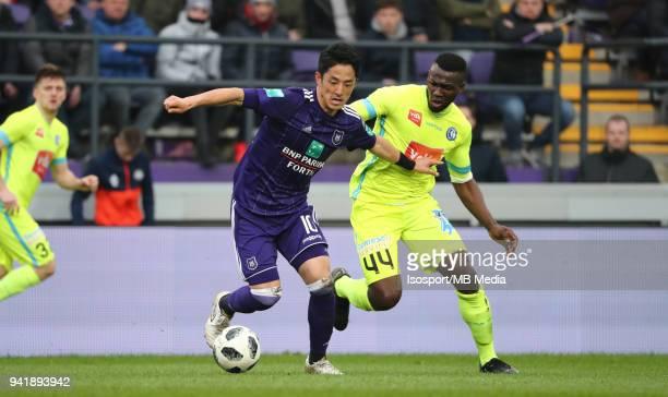 20180401 Brussels Belgium / Rsc Anderlecht v Kaa Gent / 'nRyota MORIOKA Anderson ESITI'nFootball Jupiler Pro League 2017 2018 PlayOff 1 Matchday 1 /...