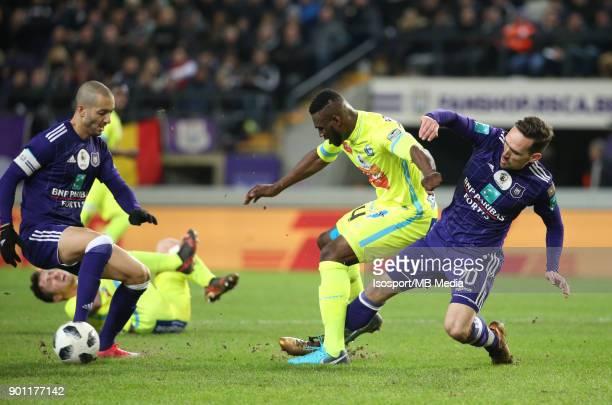 20171226 Brussels Belgium / Rsc Anderlecht v Kaa Gent / 'nSofiane HANNI Anderson ESITI Sven KUMS'nFootball Jupiler Pro League 2017 2018 Matchday 21 /...