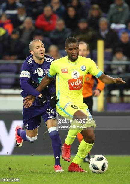 20171226 Brussels Belgium / Rsc Anderlecht v Kaa Gent / 'nSofiane HANNI Anderson ESITI'nFootball Jupiler Pro League 2017 2018 Matchday 21 / 'nPicture...