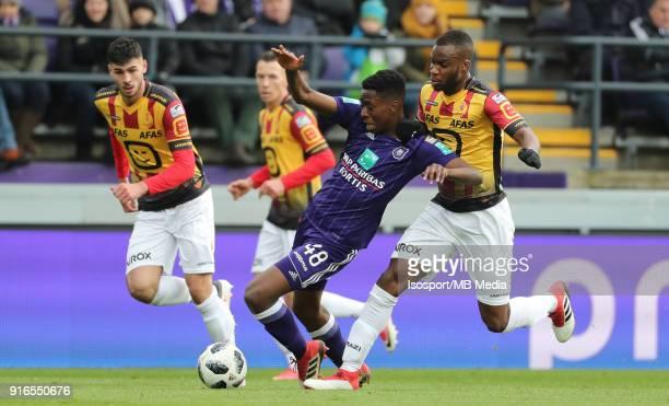 20180204 Brussels Belgium / Rsc Anderlecht v Kv Mechelen / 'nAlbert SAMBI LOKONGA Yacouba SYLLA'nFootball Jupiler Pro League 2017 2018 Matchday 25 /...