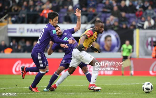 20180204 Brussels Belgium / Rsc Anderlecht v Kv Mechelen / 'nRyota MORIOKA Kenneth SAIEF Yacouba SYLLA'nFootball Jupiler Pro League 2017 2018...