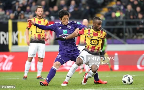 20180204 Brussels Belgium / Rsc Anderlecht v Kv Mechelen / 'nRyota MORIOKA Yacouba SYLLA'nFootball Jupiler Pro League 2017 2018 Matchday 25 /...