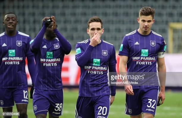 20180204 Brussels Belgium / Rsc Anderlecht v Kv Mechelen / 'nSven KUMS Leander DENDONCKER Deception'nFootball Jupiler Pro League 2017 2018 Matchday...