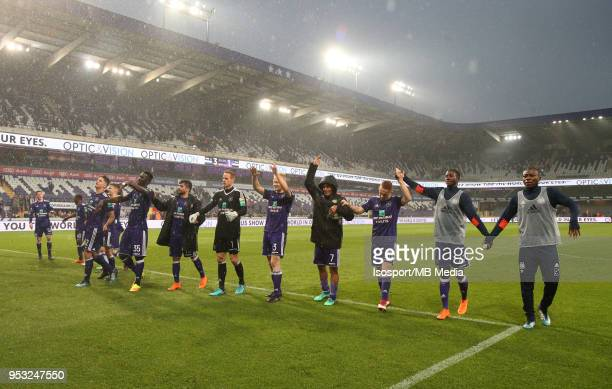 20180429 Brussels Belgium / Rsc Anderlecht v Sporting Charleroi / nCelebrationnFootball Jupiler Pro League 2017 2018 PlayOff 1 Matchday 6 / nPicture...